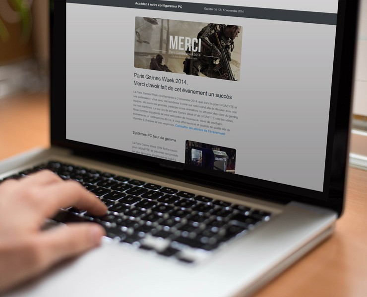 GIGABYTE | E-mailing B2C <span>Emailing</span>