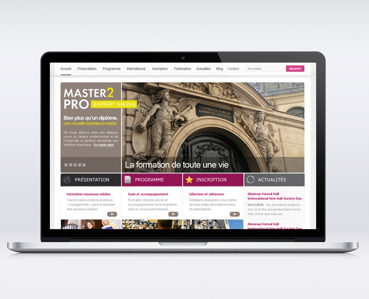 Sorbonne – Master 2 Pro | Site Web <span>Site Web Corporate</span>