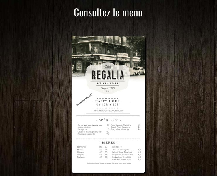 Cafe Regalia | Site Internet