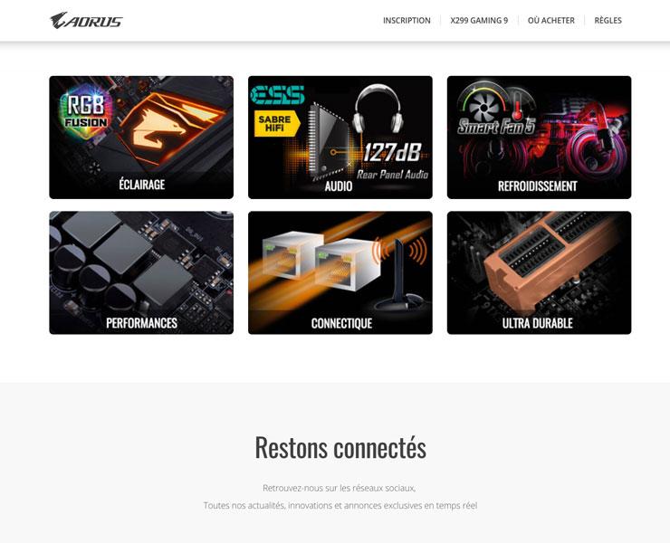 AORUS | Landing Page