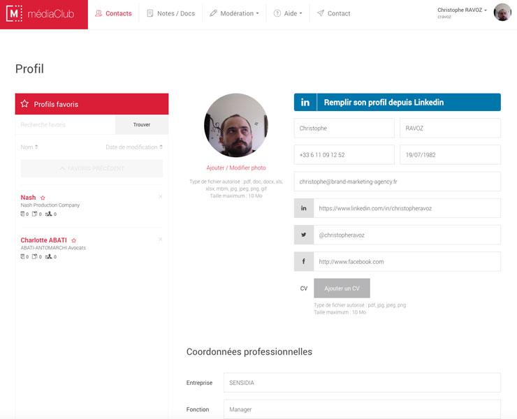 médiaClub | UI / UX Design