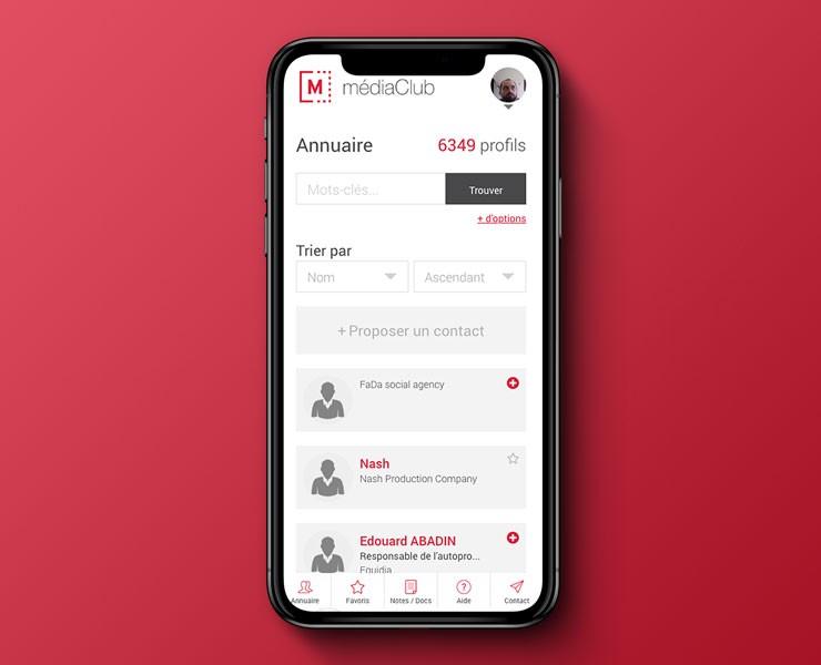 médiaClub | UI / UX Design <span>UI Design, UX Design, Site Mobile</span>