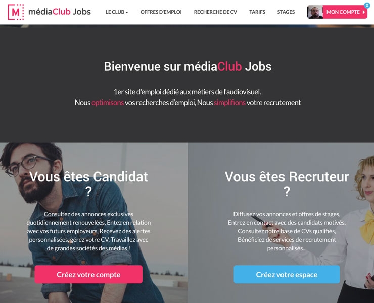 médiaClub Jobs | SITE WEB